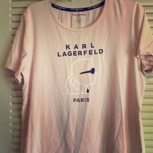 Karl Lagerfield Paris Woman's L Blush Pink T-shirt
